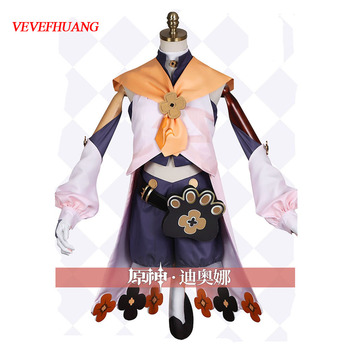 VEVEFHUANG Kосплей Game Genshin Impact Diona Cosplay Costume Wigs Anime Outfits Dress Halloween Carnival Uniforms Xmas парик 1