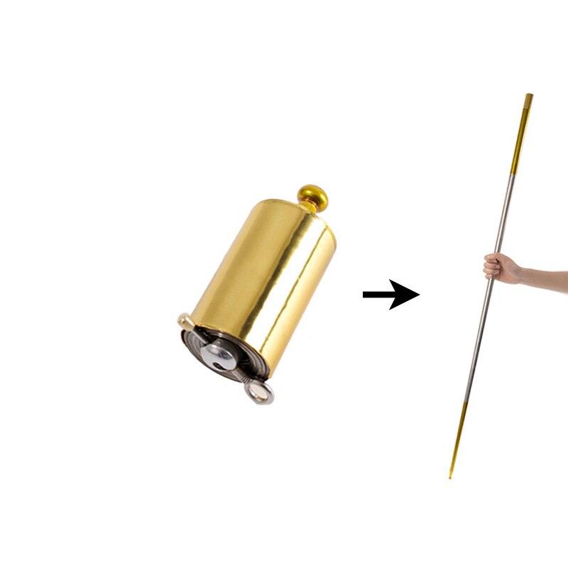 150cm caneta mágica vara telescópica portátil artes marciais metal oco magia bolso varinha de aço vara elástica (não pode usar para atacar)