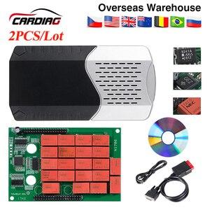 Image 2 - CDP TCS pro plus V3.0 herramienta de diagnóstico obd2 con keygen para coche y camión, tablero verde, TCS CDP, Bluetooth 2015 R3, 2 uds.