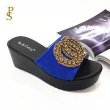 أحذية فلوك للنساء صندل بكعب اسفيني عالي الكعب النعال للسيدات أحذية بو الوحيد