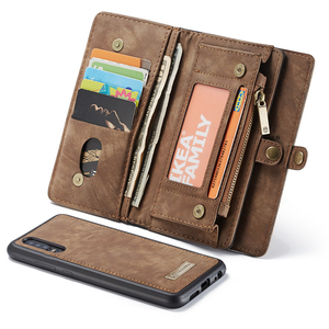 Image 4 - Luxury Business Leather Purse Case For Huawei P30 Pro P20 Lite Flip Wallet Cover Magnetic Phone Bag Cases For Huawei Mate 20 Pro
