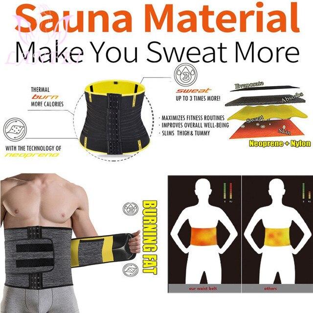 LANFEI Adjustable Double Wasit Trainer Belt Men Slimming Body Shaper Sweat Corset Weight Loss Hot Neoprene Sauna Sport Shapewear 3