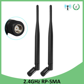 2pcs 2.4g WiFi Antenna 5dBi Aerial RP-SMA Connector 2.4ghz antena wi fi antenne For PCI Card USB Wireless Router Wifi Booster jinyushi for me909u 521 2pcs antenna usb transfer card 100% new