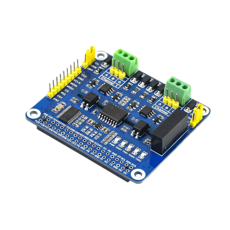 Waveshare 2-Channel Isolated RS485 Expansion HAT For Raspberry Pi, SC16IS752 SP3485 , With Multi Onboard Protection Circuits