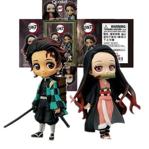 Image 4 - 7cm Anime figurka Demon Slayer: Kimetsu no Yaiba Kamado Tanjirou i Kamado Nezuko Q wersja PVC zabawki modele do kolekcjonowania