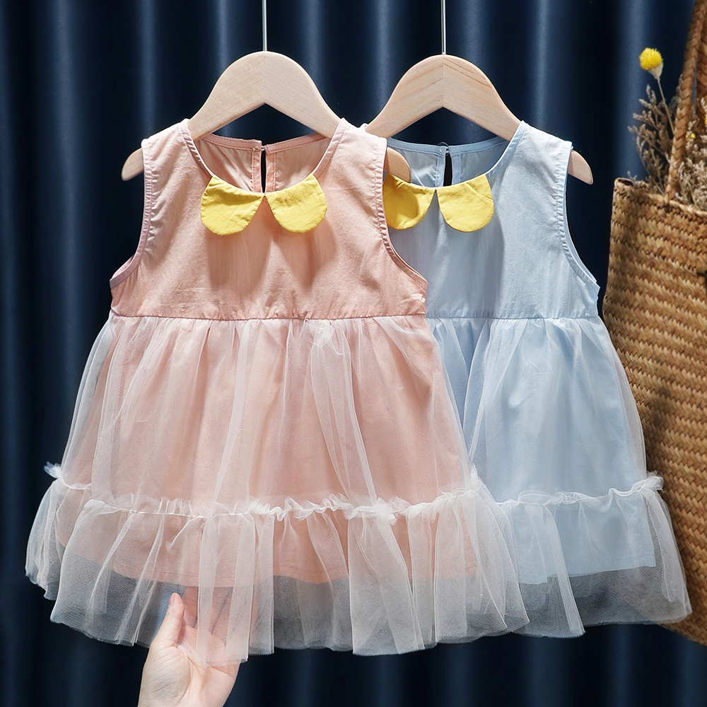 Для детей ясельного возраста, для девочки милое однокройное платье в стиле «принцесс» бальное платье для новорожденных платье, фатиновое п...