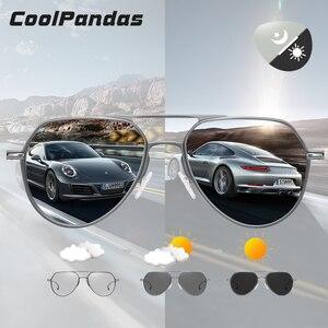 Image 1 - CoolPandas Brand Design Aviation Sunglasses Pilot Men Photochromic Women Driving Glasses Anti Glare UV400 Lens zonnebril heren