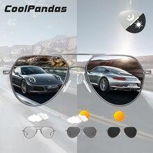 Coolpandas design da marca aviação óculos de sol piloto homem fotocromático mulher óculos de condução anti reflexo uv400 lente zonnebril heren