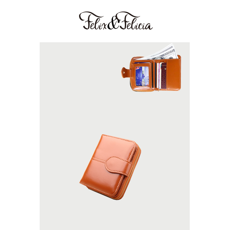 FELIX&FELICIA Brand PU leather small wallet for women 2019 ladies hot sale short zipper purse money bags coin phone pocket clutc