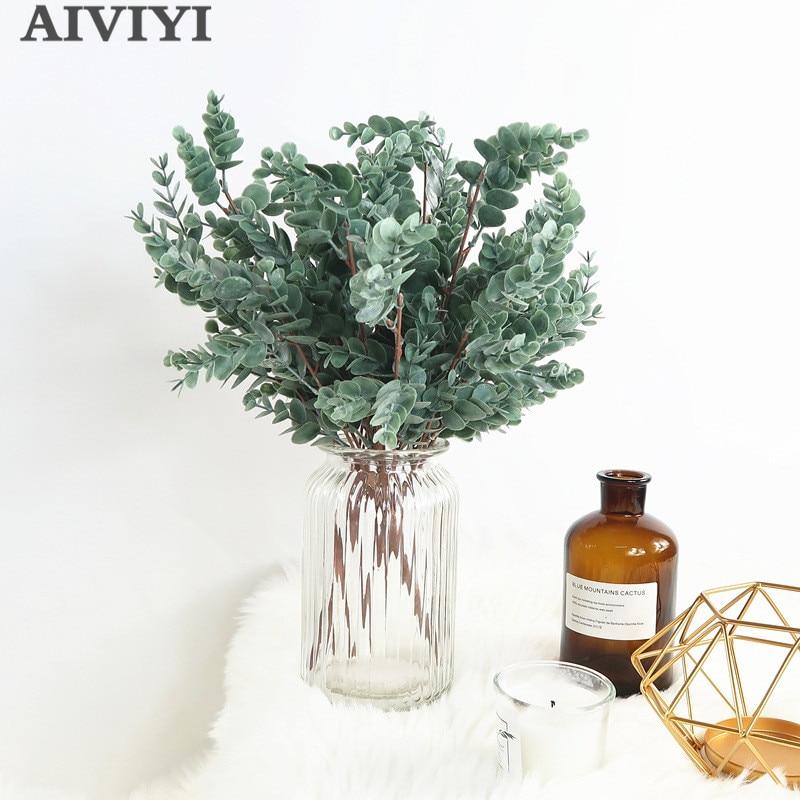 Künstliche pflanze eukalyptus geld blatt kunststoff blume dekoration grüne pflanze wand armaturen blume anordnung haufen blätter