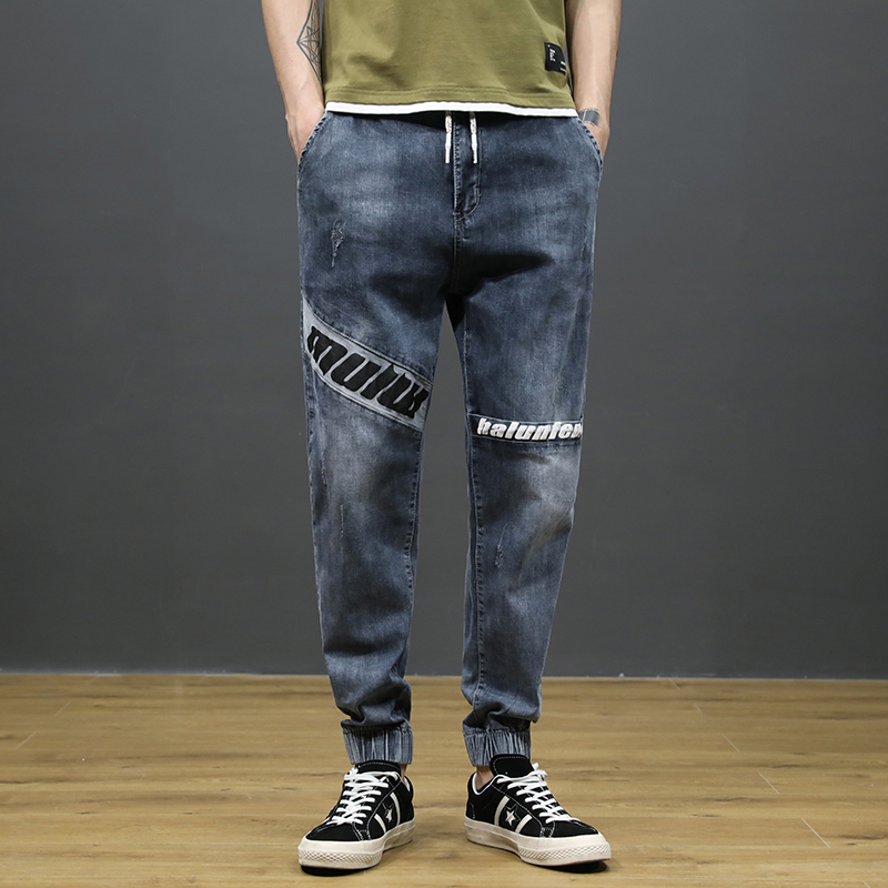 KSTUN Japanese Style Fashion Men Jeans Loose Fit Ankle Banded Jogger Pants Men Cargo Pants Patchwork High Street Jeans homme 11