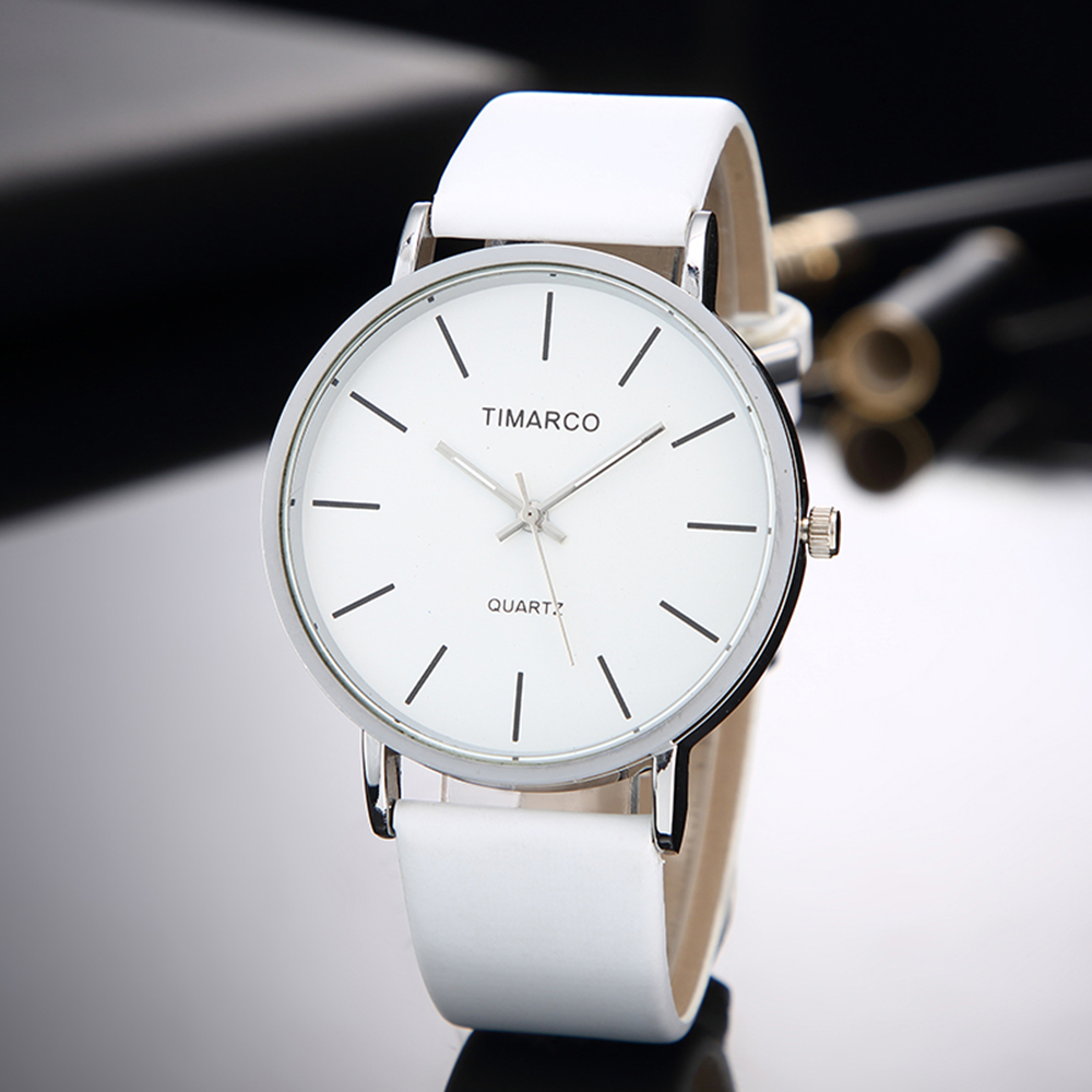 Simple Style White Leather Watches Women Fashion Watch Minimalist Ladies Casual Wrist Watch Female Quartz Clock Reloj Mujer 2019