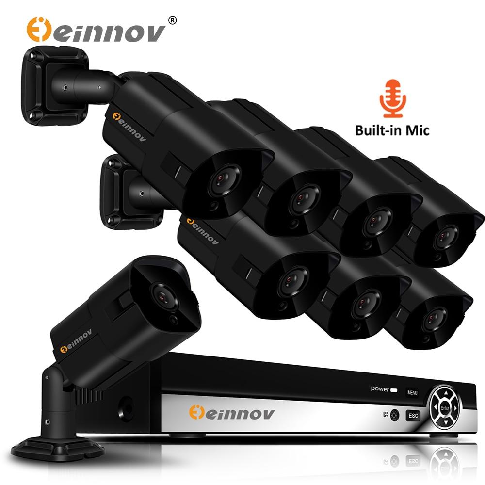 Einnov Security-Camera Poe-Nvr-Kit Wired Video-Surveillance Night-Vision CCTV Outdoor