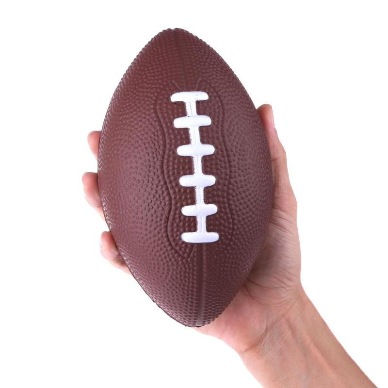 1pc Outdoor Sports Rugby Balls Squeeze Foam Stress Relieve Balls For Stress Reliever