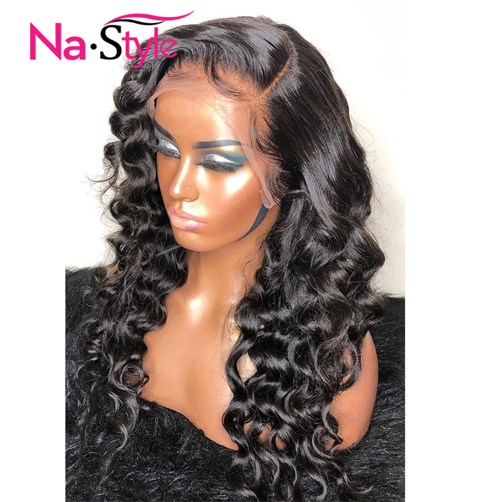 Loose Wave 360 Lace Frontal Wig Pre Plucked With Baby Hair 360 Lace Wig Preplucked Lace Front Human Hair Wigs For Black Women