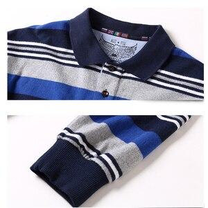 Image 3 - 새로운 남성 폴로 셔츠 고품질 스트라이프 폴로 셔츠 패션 캐주얼 긴 소매 폴로 셔츠 브랜드 의류 가을 겨울 5XL 크기