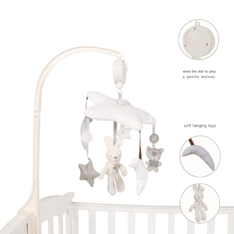 <font><b>Baby</b></font> <font><b>Crib</b></font> Musical Mobile Cot Bell Music Box with <font><b>Holder</b></font> Arm <font><b>Baby</b></font> Bed Hanging Rattle <font><b>Toys</b></font> Newborn Gift Learning& Education image