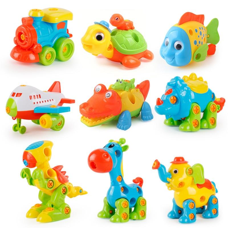 Plastique 3D bricolage amovible combinaison assemblage moto ensemble de Construction jouets pour enfants modèles Kits jouets éducatifs