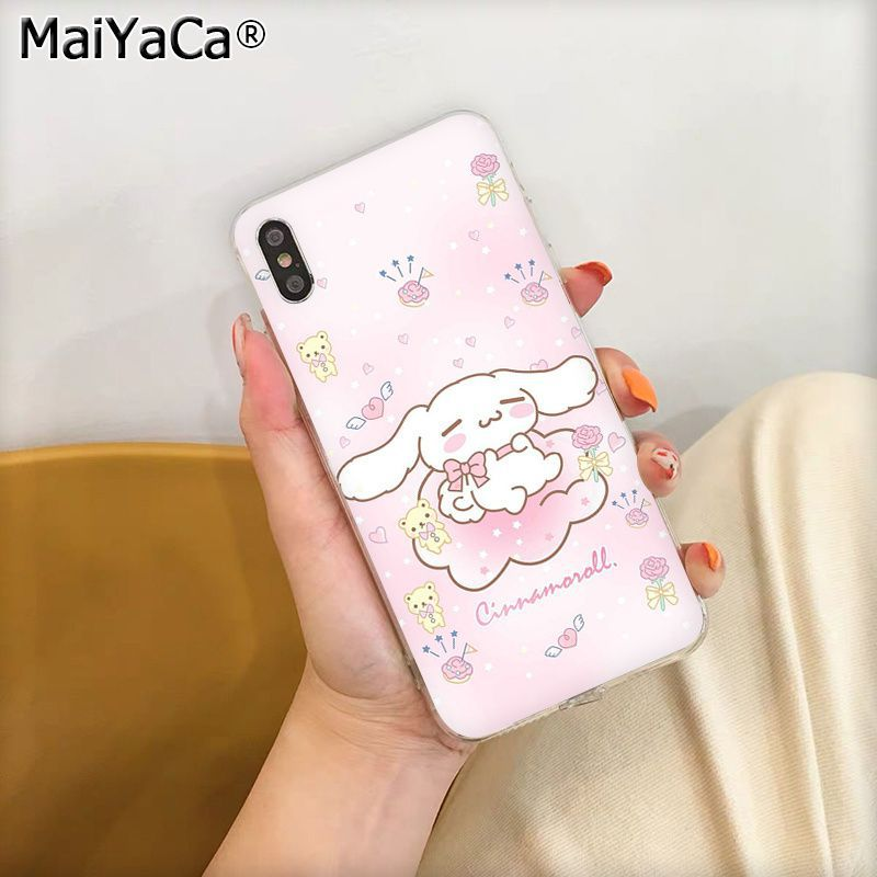 Nette cartoon cinnamoroll Coque Telefon Fall für Apple iphone 11 pro 8 7 66S Plus X XS MAX 5S SE XR abdeckung Handys image