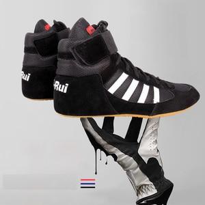 Унисекс аутентичная обувь для борьбы для мужчин, тренировочная обувь, подошва из коровьей кожи, ботинки на шнуровке, кроссовки, профессиона...
