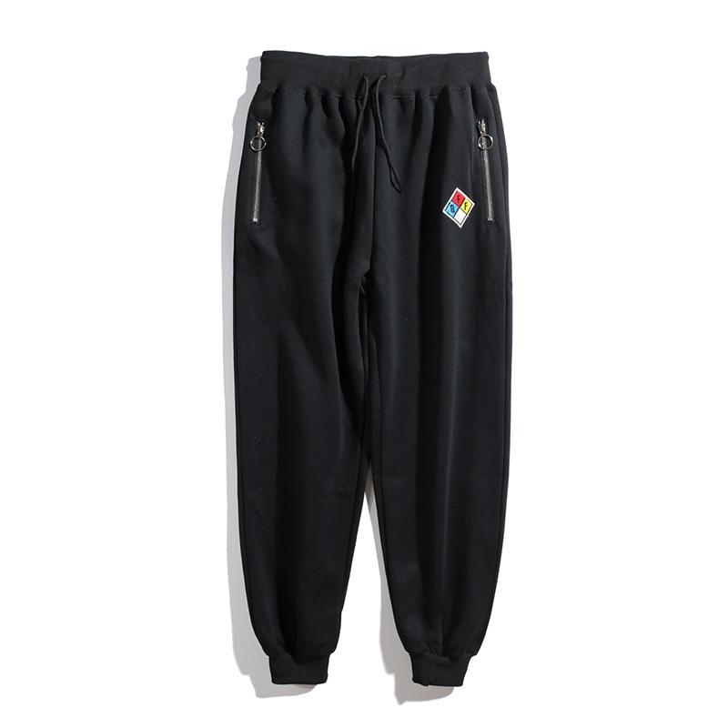 Popular Brand Off White Black Sports Long Pants Men And Women Ow Beam Leg Skinny Hip Hop Loose Casual Sweatpants
