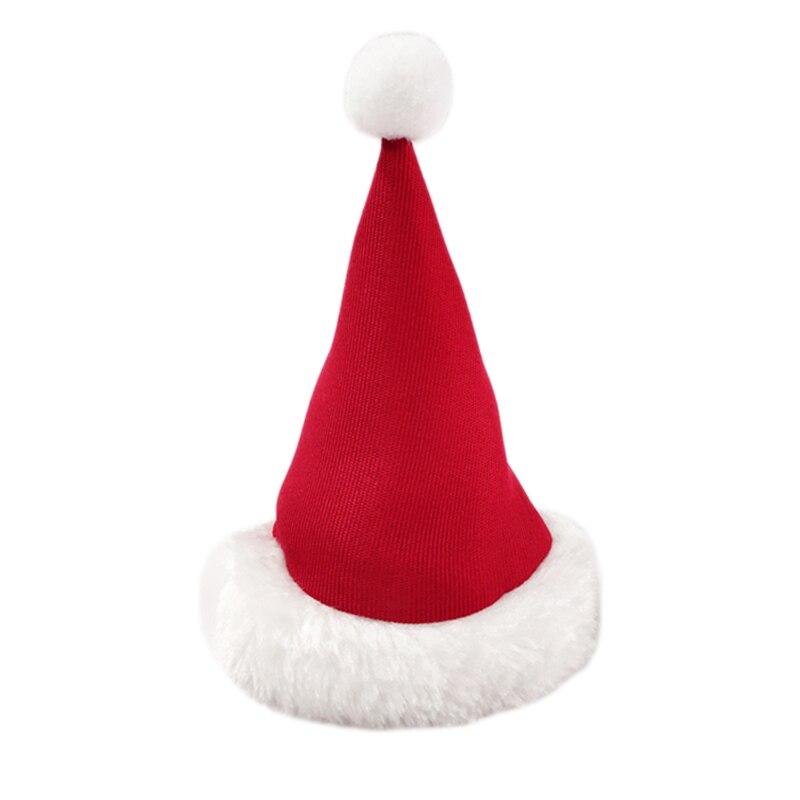 Pet Supplies Christmas Plush Dog Cap Decor Pet Cat Dog Christmas Santa Claus Winter Warm Xmas Party Kitten Puppy Hat