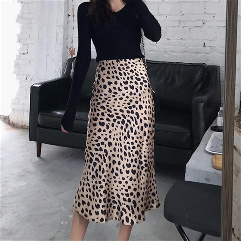 Skirts Womens 2020 Cheetah Print Skirt Ladies Animal Print Skirts Sexy A Line High Waist Skirt Summer Boho Midi Skirt Sale Items