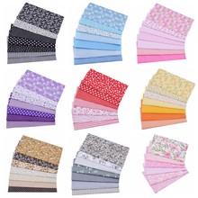7Pieces, 20x25cmFloral Plaid Stripe Cotton Fabric,Sewing Quilting DIY Patchwork Fabric Bundle, Handmade Cloth