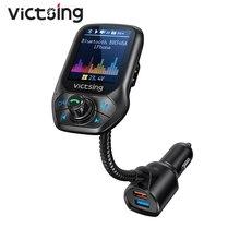 VicTsing BH346 بلوتوث ترانزيميتر يدوي الدعوة بلوتوث محول مع QC3.0 تهمة سريع للسيارة FM جهاز إرسال لاسلكي