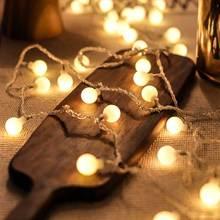 YINUO CANDLE 10M LED Ball String Lights Fairy Garland Christmas Light Wedding Christmas New Year Holiday LED Lights Decoration