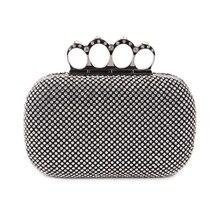 Вечерняя сумочка с кристаллами, клатч, сумки, клатчи, Свадебный Кошелек, стразы, свадебные сумки, серебряный/золотой/Черный вечерние сумки с кольцом на палец