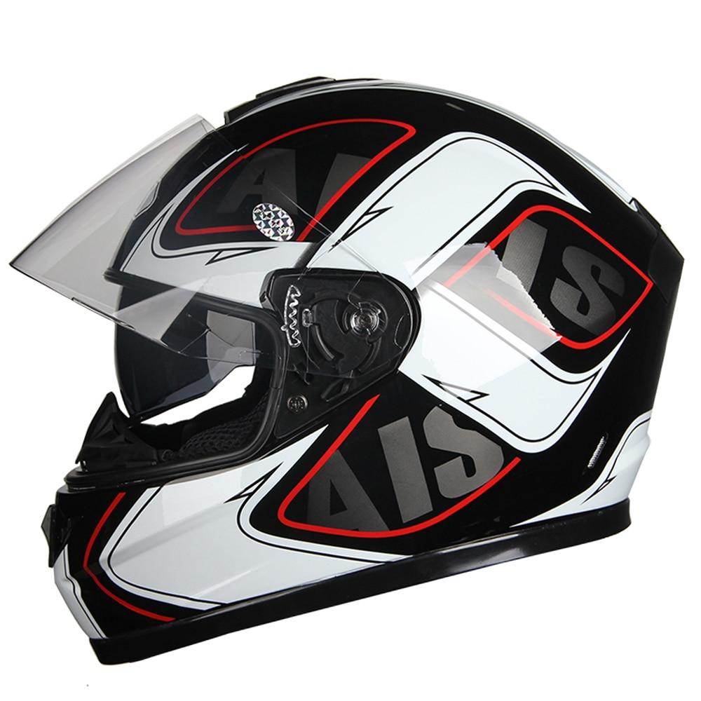 AIS  Full Face Motorcycle Helmet Moto Helmets Double Visor Racing Motocross Helmet Casco Modular Moto Helmet Motorbike Capacete
