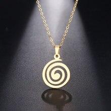 Ожерелье DOTIFI из нержавеющей стали для женщин и мужчин, Круглый чокер, подвеска, классический дизайн, ожерелье, ювелирные изделия для помолвк...