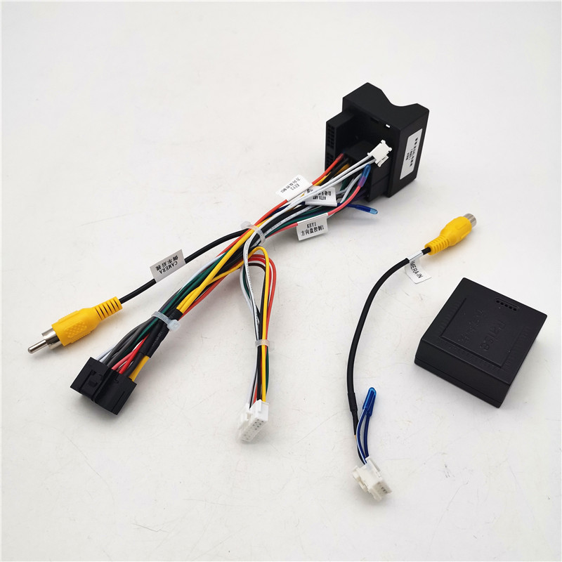 16 Pin Car Android Stereo Wiring Harness With Canbus Box For Peugeot 3008/2008/ For Citroen C4 For C-Quatre For C4L/C3 XR/C5/DS6