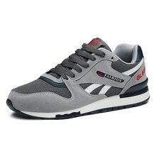 Zapatillas de deporte de cuero genuino para hombre, zapatos informales transpirables para caminar al aire libre, suela de goma ligera con cordones para correr