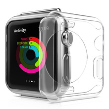 Transparent soft watch case for apple cover 38mm All-around Ultra-thin Cover protector 42mm serie 3 accessory