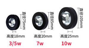 Image 5 - Surface mounted  downlight 5W/10W led wine cabinet spotlight ceiling light show counter living room light