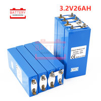 16PCS Lifepo4 cell 3.2V 26AH battery not 25Ah deep cycle prismatic LFP in storage application car and solar storage carious