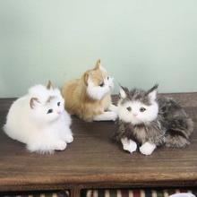 Новинка, трехцветная игрушечная кошка, украшение для рабочего стола, аксессуары для дома, кожаные волосы для детей, Рождественский креативный подарок