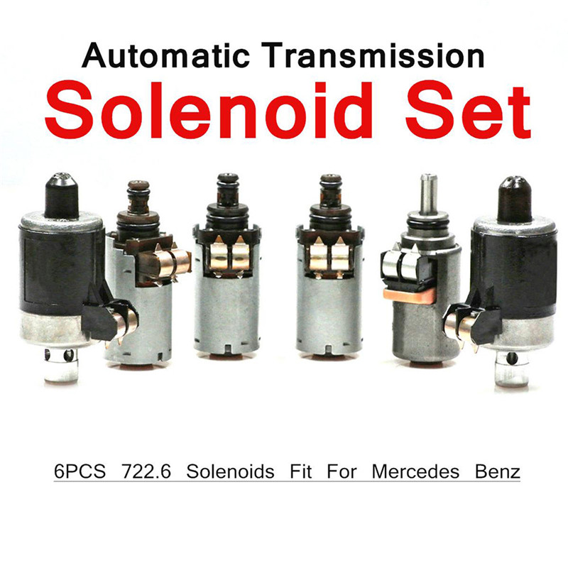 6pcs 722.6 Transmission Solenoid Set For Mercedes Benz 5-Speed Automatic Transmission 5-Speed Auto