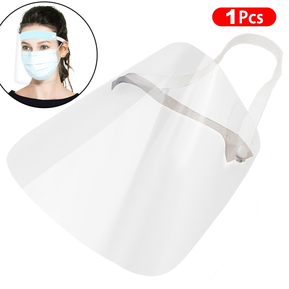4/10PCS Clear Face Cover with Double-Sided Film and Adjustable Headband to Protect Full Face 2