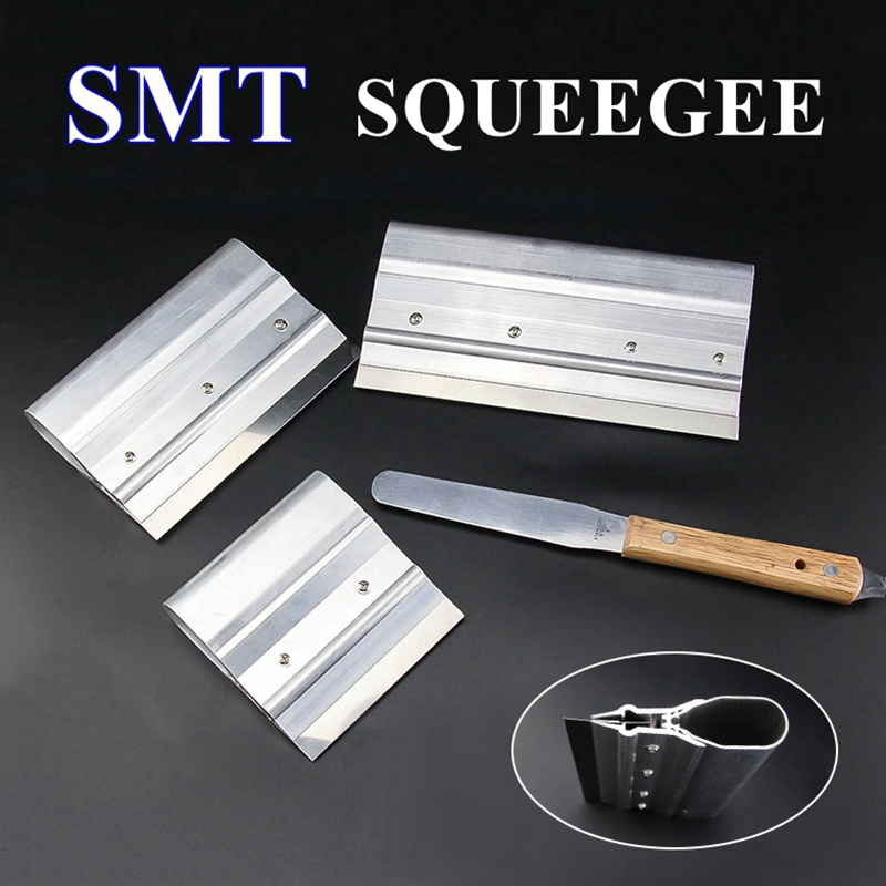 10/15/20/25/30CM Stainless Steel Paste Squeegee Scraping Board SMT Stencil Scraper Tin Solder Paste Scraping Knife Tool Parts