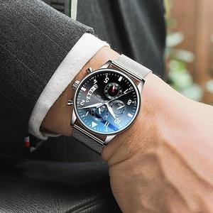 Image 2 - Мужские спортивные часы JENISES, Топ бренд, Модные Военные часы с хронографом, Автоматическая Дата, кварцевые часы с кожаным ремешком, мужские часы Relogio Masculino