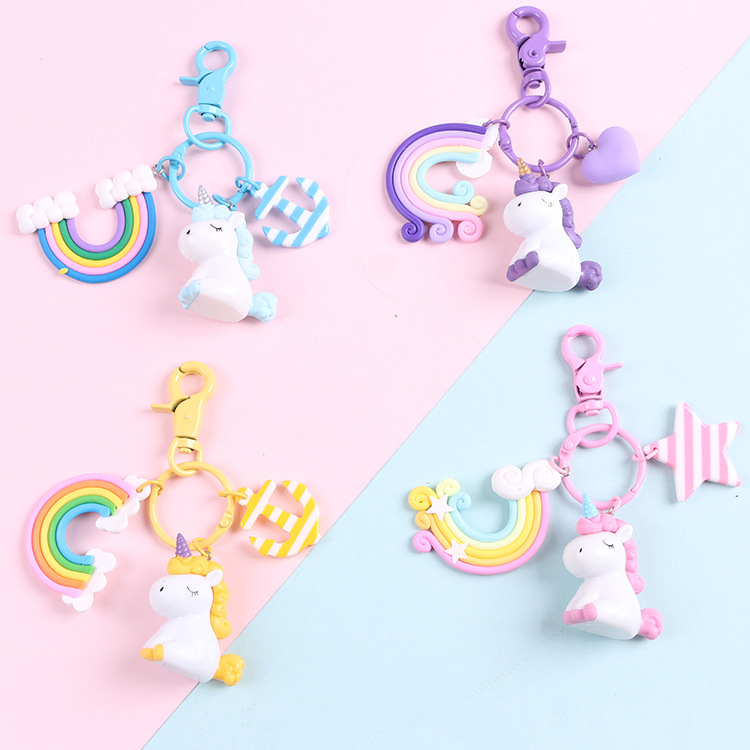 2020 pony cartoon Korean version of the key chain bag car phone pendant autumn and winter creative small gift key ring