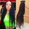 28 30 32 40 дюймов глубокая волна бразильские волосы, волнистые пряди вьющиеся Пряди человеческих волос для наращивания воды Волосы Remy 1 3 4 пряди