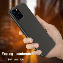 Luxury Black Matte Case For iPhone 11 Pro XS Max 8 7 6s 6 Plus Xr Ultra Thin Slim Soft TPU Silicone Cover Coque Fundas Capa
