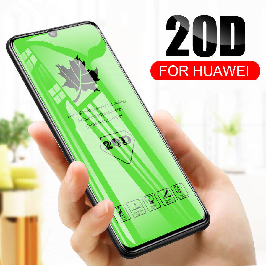 RDCY 20D Maple Leaf Full Coverage Tempered Glass For Huawei P30 Lite Honor 8X 8S 8A 9X 20 Lite Nova 5i Pro P Smart 2019 Mate 20