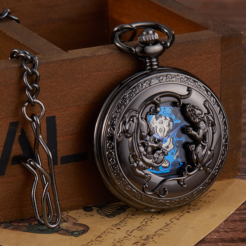 2020 New Luxury Brand Skeleton Mechanical Pocket Watch Men Woman Antique  Necklace Pocket & Fob Watches Chain Male Clock