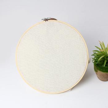 1PC 34cm haft bambusowy Hoop koło ramki DIY rzemieślniczy krzyż Stitch chińskie tradycyjne do szycia narzędzie ręczne tanie i dobre opinie Other CN (pochodzenie)