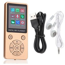 T1 Wireless Lightweight MP3 MP4 Music Player With Screen Ultra-thin Portable Mini Player Adjustable Mode Button Type